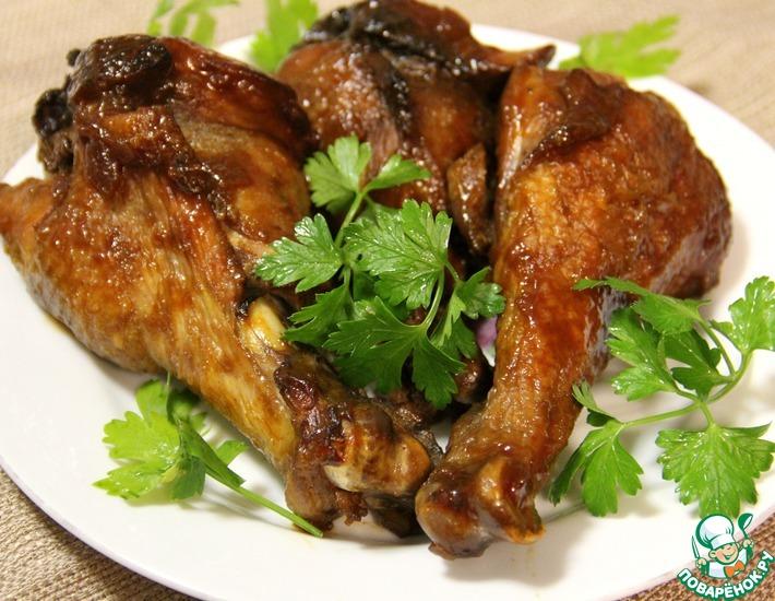 Рецепт: Ножки индейки с соусом-барбекю