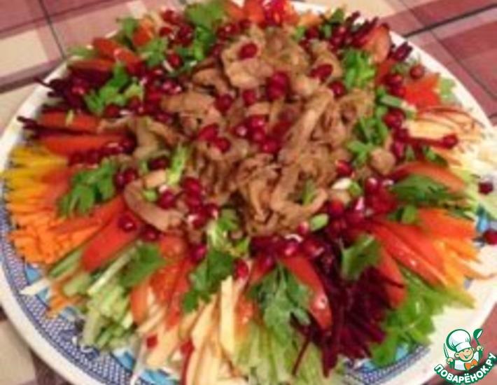 Рецепт: Салат овощной Праздничный