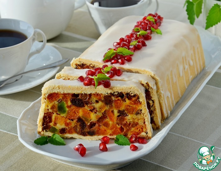 Рецепт: Пирог с сухофруктами