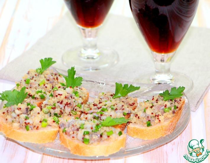 Рецепт: Бутерброды с селедочной икрой под пиво