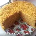 Томатный торт Медовик
