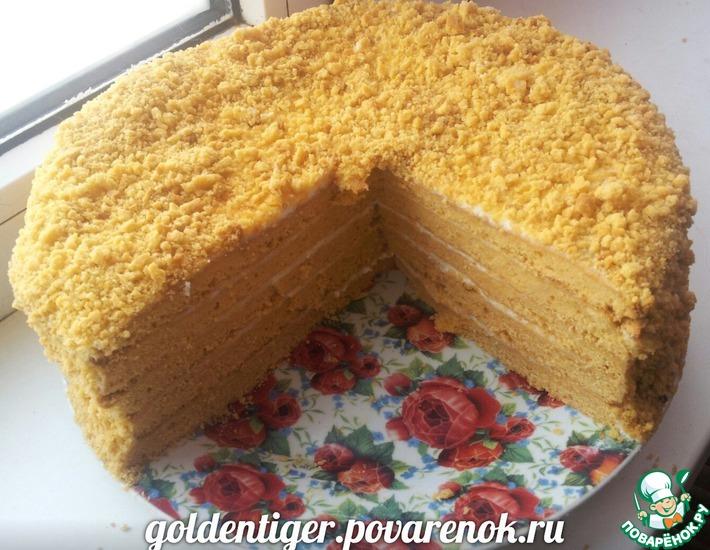 Рецепт: Томатный торт Медовик