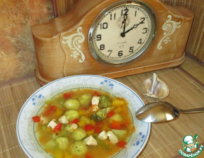 Рецепт: Суп с клёцками из кукурузной муки