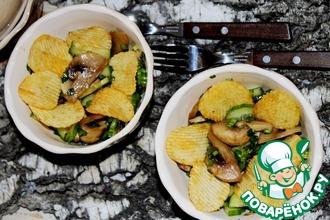 Рецепт: Салат из огурцов и шампиньонов