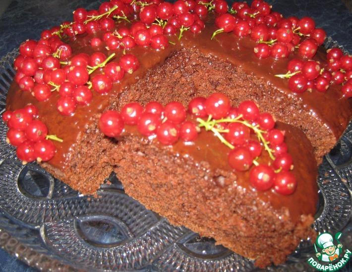 Рецепт: Шоколадный бисквит на кипятке