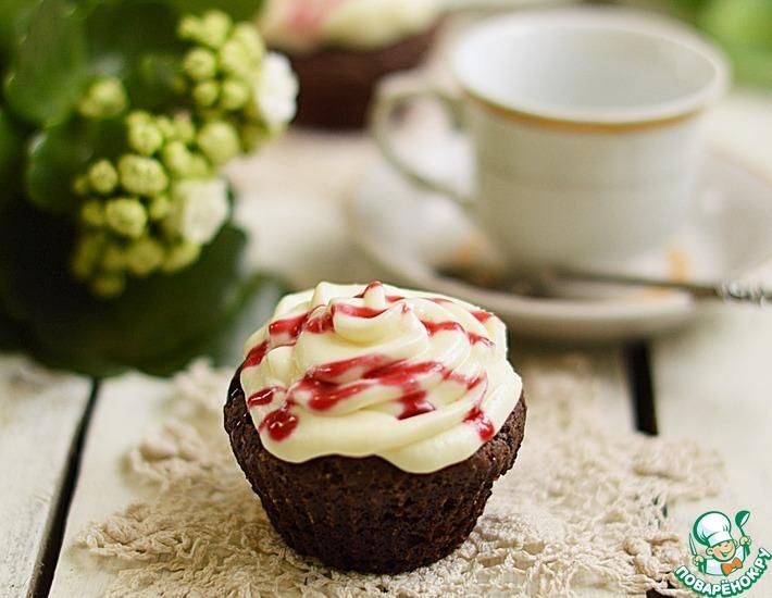Рецепт: Шоколадные капкейки с бальзамическим уксусом