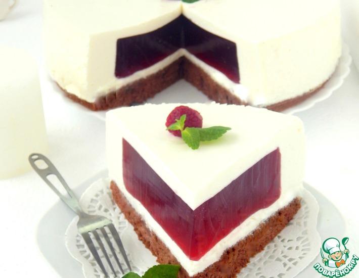 Рецепт: Сливочный торт-суфле Малиновый бриз