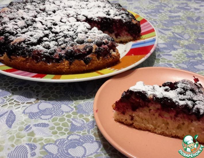 Рецепт: Черносмородиновый пирог