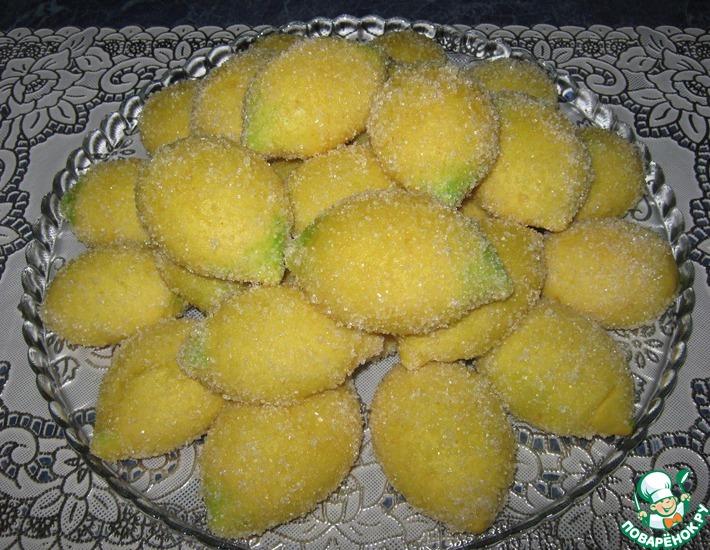 Рецепт: Печенье Лимончики с творогом