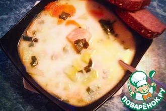 Рецепт: Форелевый суп со сливками