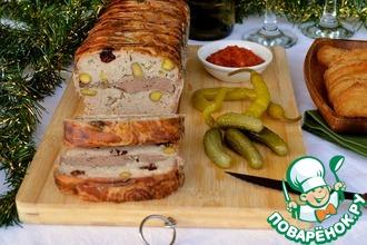 Рецепт: Террин из свинины и куриной печени
