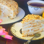 Творожный торт Наполеон со сливочно-творожным кремом