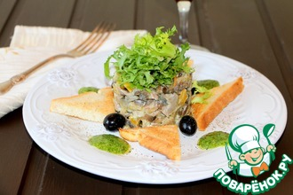 Рецепт: Салат с языком Изысканный