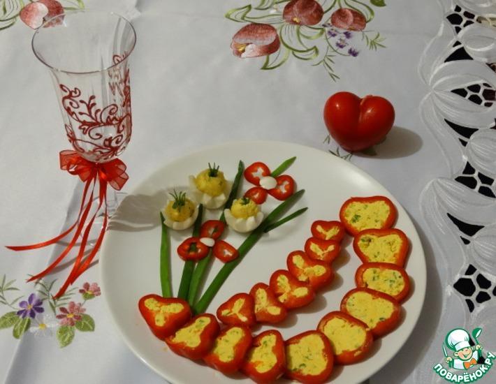 Рецепт: Закуска Букет для любимой