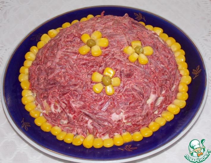 Рецепт: Салат свекольный с кукурузой