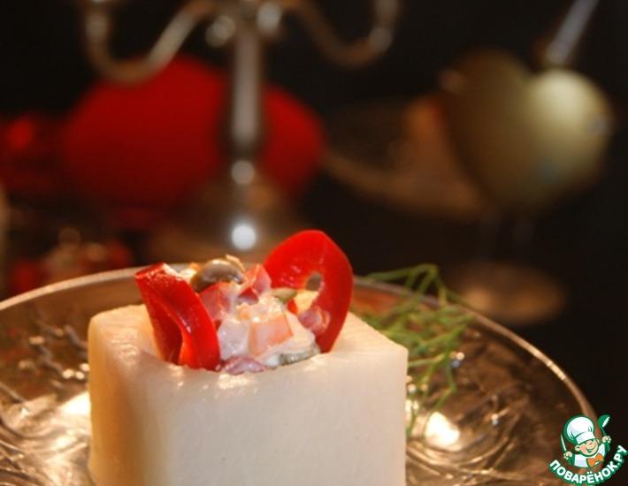 Рецепт: Пикантный праздничный салат