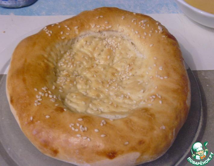 Рецепт: Узбекская лепешка в духовке