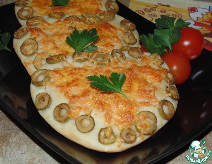 Рецепт: Булочки с сыром и оливками Для любимых