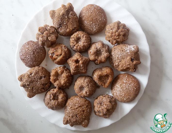 Рецепт: Печенье из гречневой муки с шоколадом