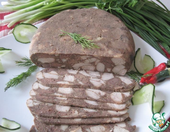 Рецепт: Мясо прессованное в чулке