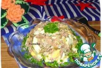 Рецепт: Салат Мясное наслаждение
