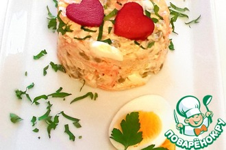 Рецепт: Салат Романтичный