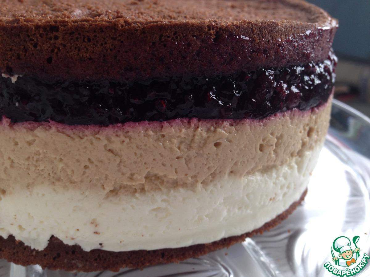 """Шоколадный торт-мусс """"Кофе-черная смородина"""""""