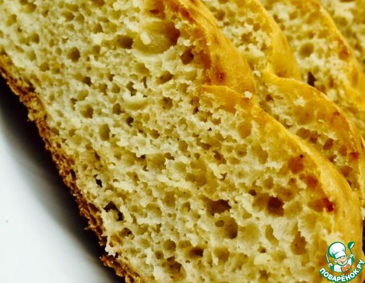 Рецепт: Бездрожжевой хлеб в хлебопечке