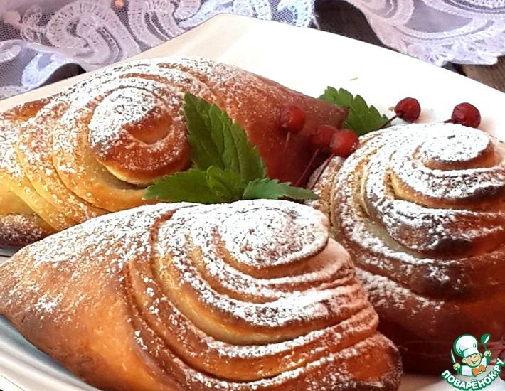 Рецепт: Ванильные йогуртовые булочки Для Поваренка