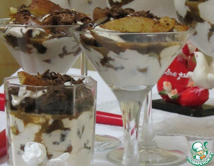 Рецепт: Шоколадный а-ля тирамису с грушей