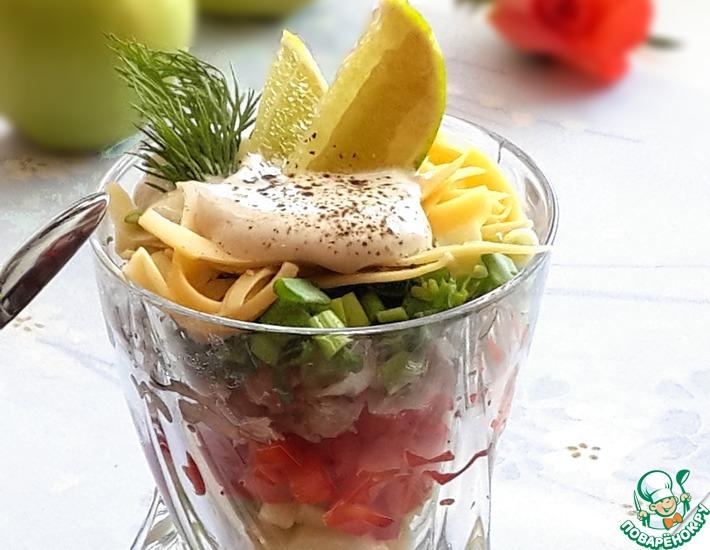 Рецепт: Салат с курицей Барышня