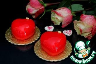 Рецепт: Пирожные Валентинки