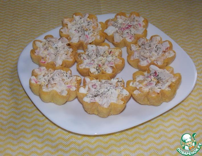 Рецепт: Салат в тарталетках