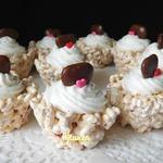Десерт из воздушного риса Валентинки