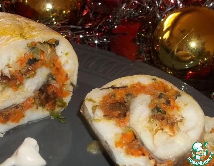 Рецепт: Закусочный рыбный рулет Посейдон
