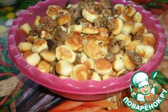 Рецепт: Галушки Полтавские жареные