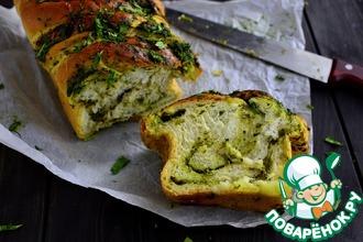 Рецепт: Хлеб чесночный с зеленью