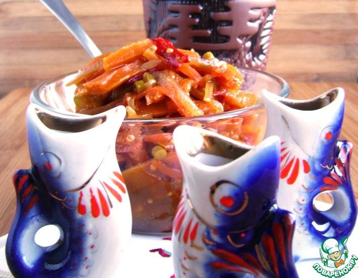 Рецепт: Острый салат из тыквы с овощами