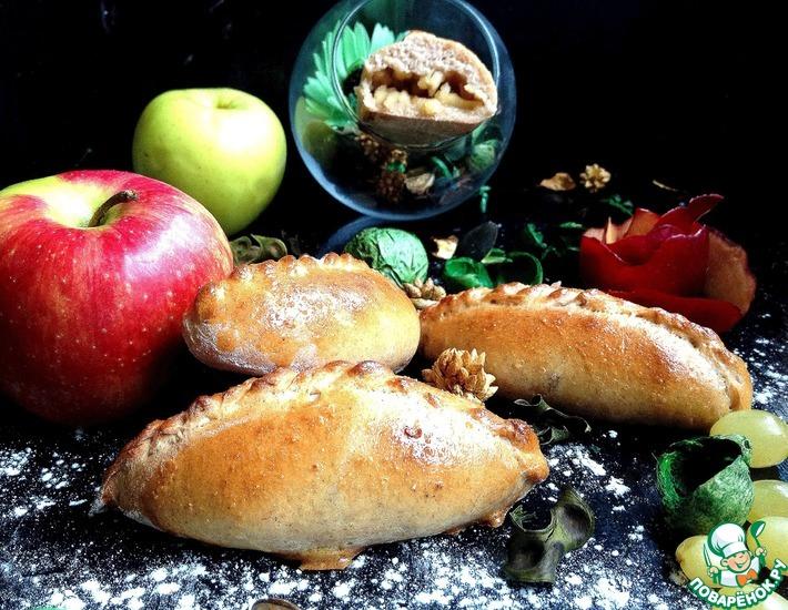 Рецепт: Пирожки с яблоками из цельнозерновой муки