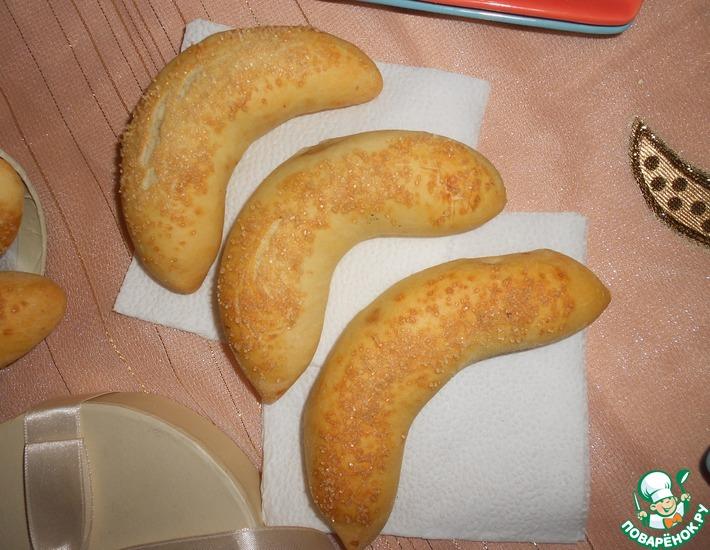 Рецепт: Пирожки Банановые полумесяцы