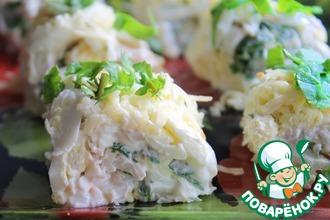 Рецепт: Закусочный салат из кальмаров Моя прелесть