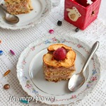 Ореховый торт с яблочно-вишневым муссом