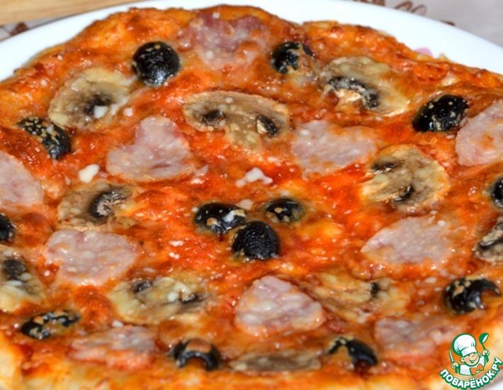 Рецепт: Пицца для моих любимых