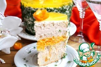 Рецепт: Закусочный торт с куриным паштетом