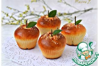 Рецепт: Сдобные булочки на сливках со штрейзелем