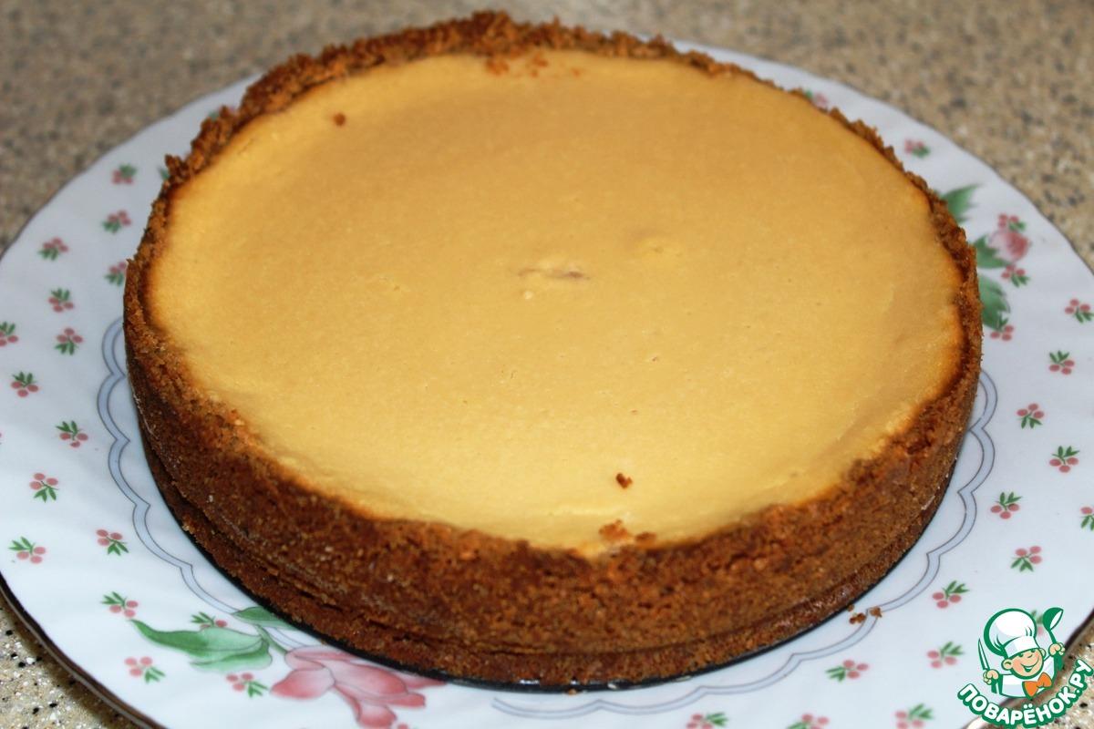 Карамельный торт с кремовой творожной начинкой