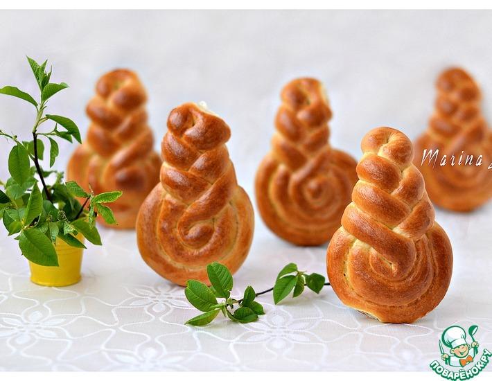 Рецепт: Сладкие булочки-витушки