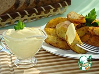 Запеченный картофель с домашним майонезом ингредиенты