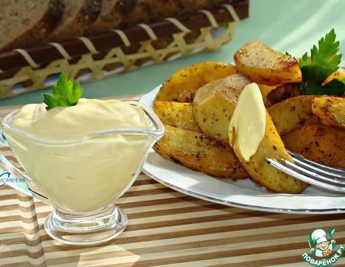 Рецепт: Запеченный картофель с домашним майонезом
