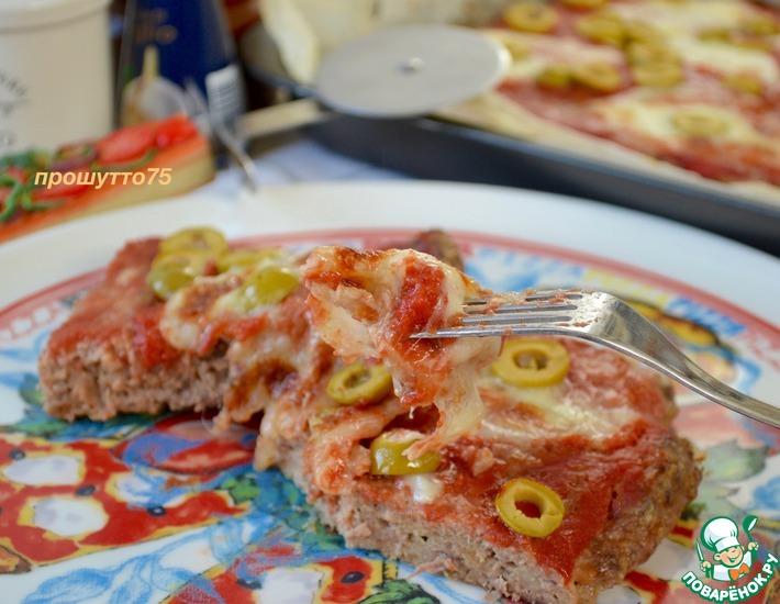 Рецепт: Мясная пицца
